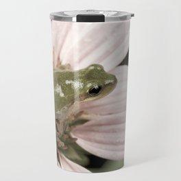 Treefrog on flower Travel Mug