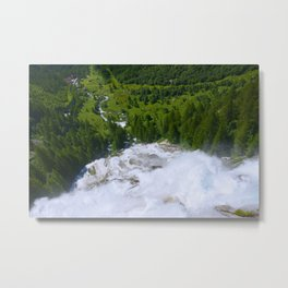Over the Rushing Waters Metal Print