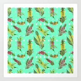 Australian Native Floral Pattern Art Print