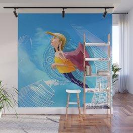 Bird woman Wall Mural