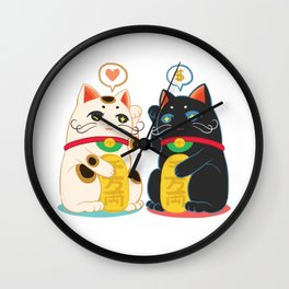 Fortune Cat Wall Clock