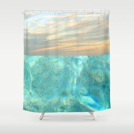 seascape 001 Shower Curtain