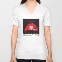 rocky horror picture show V-neck T-shirts featuring No153 My The Rocky Horror Picture Show minimal movie poster by Chungkong
