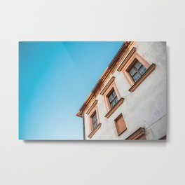 Old House and Bright Blue Sky Metal Print