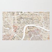 london map Area & Throw Rugs featuring London map by Mapsland