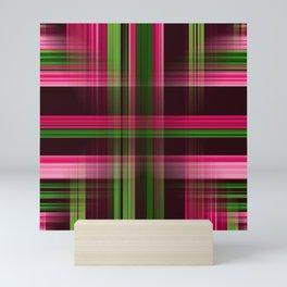 tartan pattern Mini Art Print