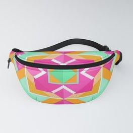 Geometric Tribal Mandala Inspired Modern Trendy Vibrant (Mint Green, Maroon, Wine, Hot Pink, Orange) Fanny Pack