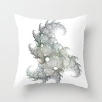 the thing Throw Pillows featuring Thing by made by nini