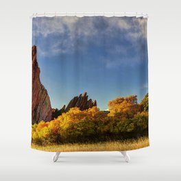 Red Rocks Panorama Shower Curtain