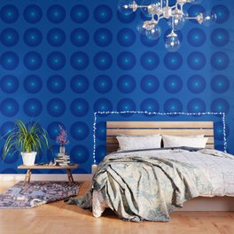 Blue and round Graphic Wallpaper