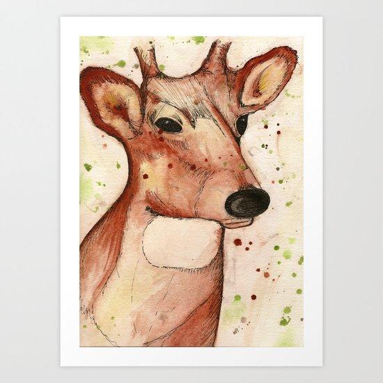 Master Deer Art Print