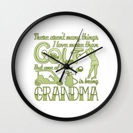 Golf Grandma Wall Clock