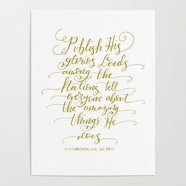Bible Quote for Writers Calligraphy Poster