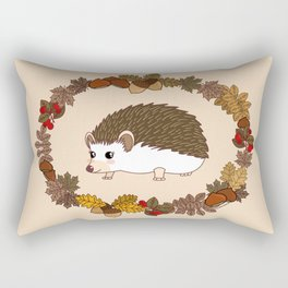 Kawaii hedgehog Rectangular Pillow