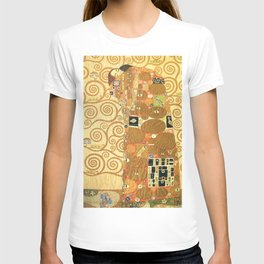 Lovers by Gustav Klimt 1909 // Cartoons for the Execution of a Frieze for the Dining Room of Stoclet T-shirt