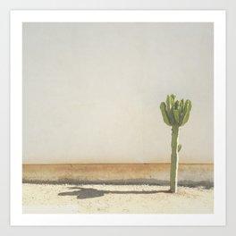 Cactus - Taupe Art Print
