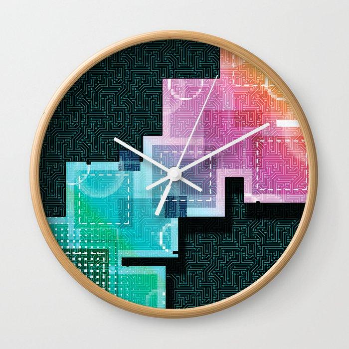 Abstract Tech Wall Clock