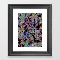 smack my glitch up Framed Art Print