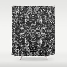 Top Hat Black and White Shower Curtain