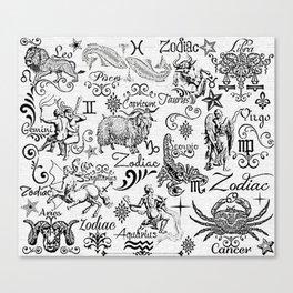 ZODIAC CANVAS CALLIGRAPHY Canvas Print