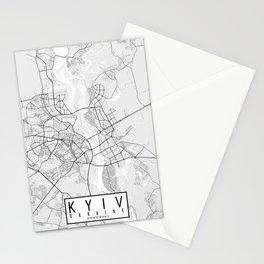 Kyiv City Map of Ukraine - Light Stationery Cards