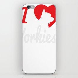 I Love Yorkies Dogs iPhone Skin