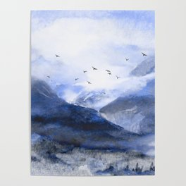 Blue Mountain Poster