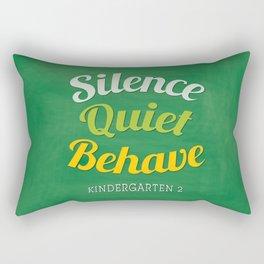 silence-quiet-behave Rectangular Pillow