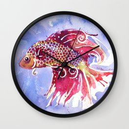 Fish Swirl Wall Clock