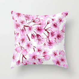 Cherry blossom pattern Throw Pillow