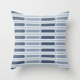 Venice Blue Stripe Throw Pillow