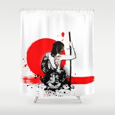 Trash Polka - Female Samurai Shower Curtain