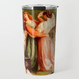 "Dante Gabriel Rossetti ""The Bower Meadow"" Travel Mug"