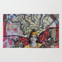 shiva Area & Throw Rugs featuring Shiva dreams by Quinten Sheriff