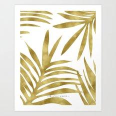 Gold Palm Art Print