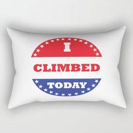 I Climbed Today Rectangular Pillow
