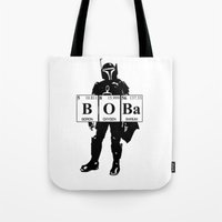 boba Tote Bags featuring Boba by Pinguin Designs