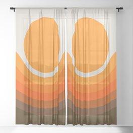 Golden Canyon Sheer Curtain
