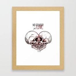 no gender just love Framed Art Print