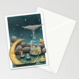 Bath Under The Starry Sky Stationery Cards
