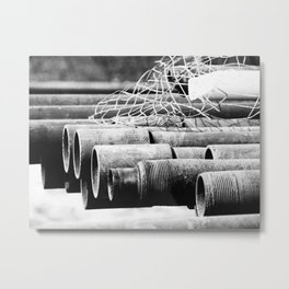 Pipes and Wire Metal Print