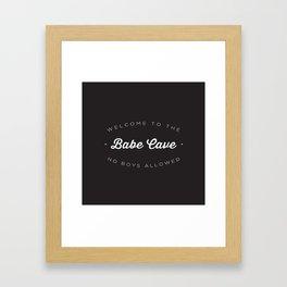 The Babe Cave Framed Art Print