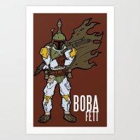 boba fett Art Prints featuring Boba Fett by Twisted Dredz