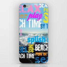 Summer Beach Time Fun iPhone Skin