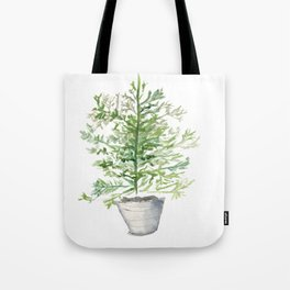 Christmas Tree in Galvanized Bucket Tote Bag