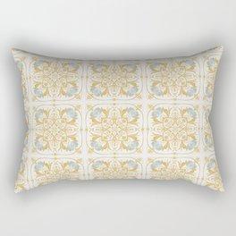 Golden Tile Rectangular Pillow