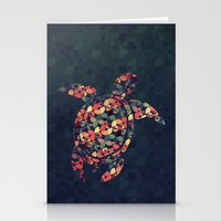 tortoise Stationery Cards featuring The Pattern Tortoise by VessDSign