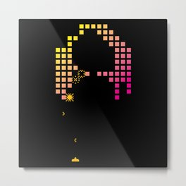 Arcade Invaders Metal Print