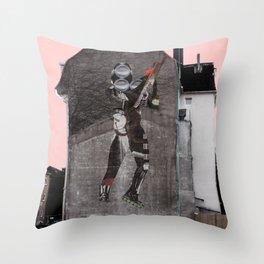 StreetArt Invasion 8 - Ritter Rost strikes again Throw Pillow