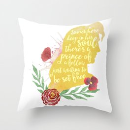 prince of a fellow - beast Throw Pillow